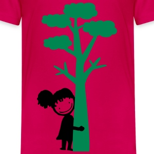 Tree hugger girl Teenage Premium T-Shirt - Teenage Premium T-Shirt