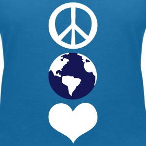 Peace and love earth day Women's V-Neck T-Shirt - Women's V-Neck T-Shirt