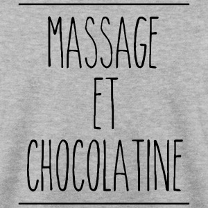 sweat homme massage et chocolatine (logo noir) - Sweat-shirt Homme