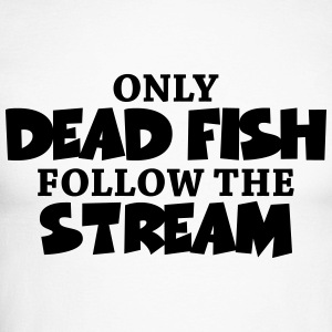 Only dead fish follow the stream Manches longues - T-shirt baseball manches longues Homme