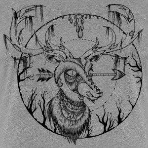 Heather grey zombie hirsch T-Shirts - Women's Premium T-Shirt