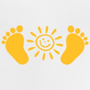Baby feet, sun, baby, gift, birth, Foot, mom, dad, T-Shirts - Baby T-Shirt
