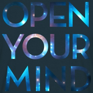 OPEN YOUR MIND, galax, universum, meditation T-shirts - T-shirt herr