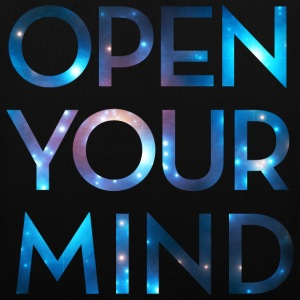 OPEN YOUR MIND, galaxie, univers, méditation,  Sacs et sacs à dos - Tote Bag