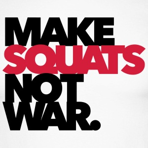 Make Squats not war - Gym - Fitness Langarmshirts - Männer Baseballshirt langarm