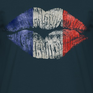 france kiss - Men's T-Shirt