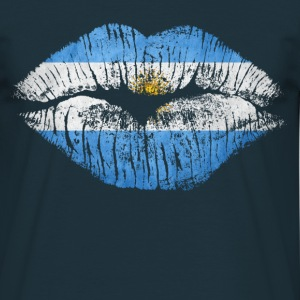 kiss argentina - Men's T-Shirt