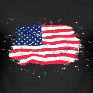 USA Flag - Vintage Look Tee shirts - Tee shirt près du corps Homme