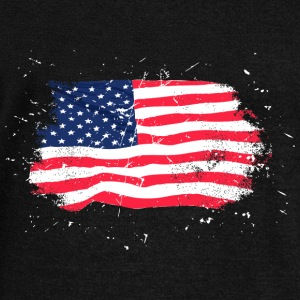 USA Flag - Vintage Look Hoodies & Sweatshirts - Women's Boat Neck Long Sleeve Top