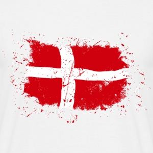 Denmark Flag - Vintage Look Tee shirts - T-shirt Homme