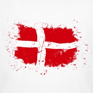 Denmark Flag - Vintage Look Tee shirts - T-shirt bio Homme