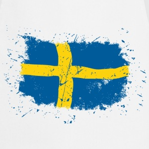 Sweden Flag - Vintage Look  Aprons - Cooking Apron