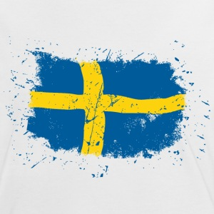 Sweden Flag - Vintage Look T-Shirts - Frauen Kontrast-T-Shirt