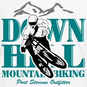 Downhill - Mountainbiking T-skjorter - Kontrast-T-skjorte for menn