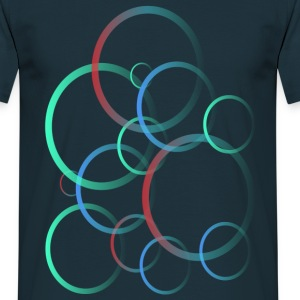 Blue Circle Art - T-shirt Homme
