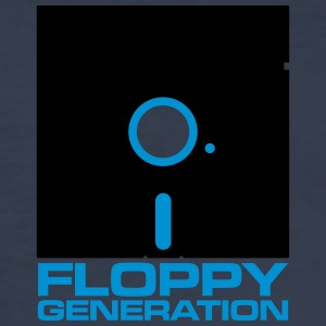 Floppy Generation - No Name Disk  - Slim Fit T-shirt herr