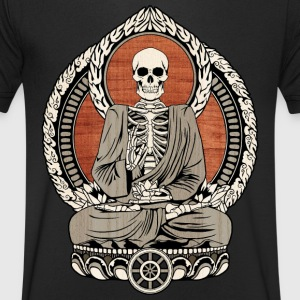 Starving Buddha T-Shirts - Men's V-Neck T-Shirt