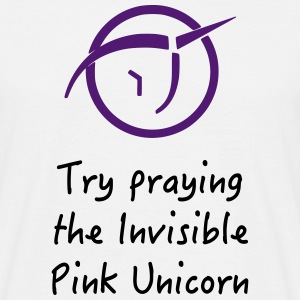 Invisible Pink Unicorn atheism - Männer T-Shirt