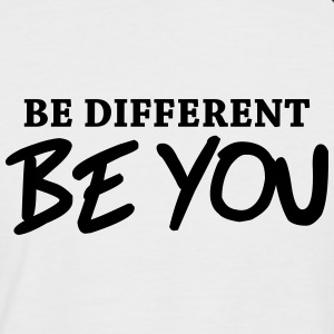 Be different - Be YOU! T-Shirts - Männer Baseball-T-Shirt