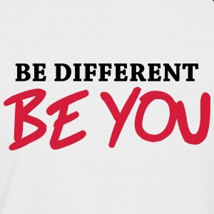 Be different - Be YOU! T-shirts - Mannen baseballshirt korte mouw