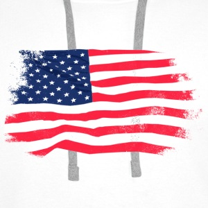 USA Flag - Vintage Look Gensere - Premium hettegenser for menn