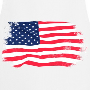 USA Flag - Vintage Look  Aprons - Cooking Apron