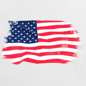 USA Flag - Vintage Look T-Shirts - Frauen Kontrast-T-Shirt