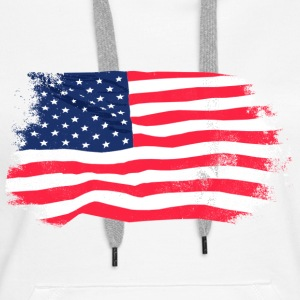 USA Flag - Vintage Look Hoodies & Sweatshirts - Women's Premium Hoodie