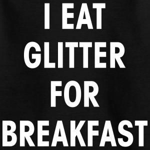I Eat Glitter for Breakfast - KOLESON COUTURE - Kinder T-Shirt