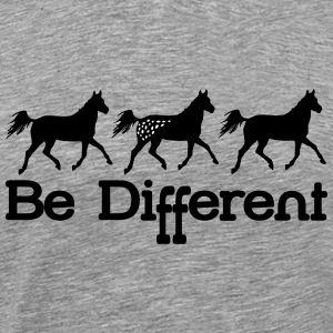 Be diFFerent - appaloosa horse T-Shirts - Men's Premium T-Shirt