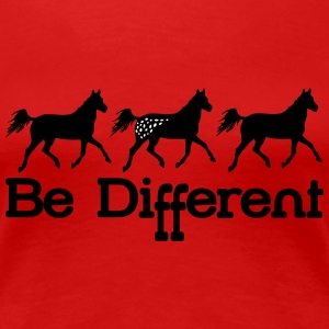 Be diFFerent - appaloosa horse T-Shirts - Women's Premium T-Shirt