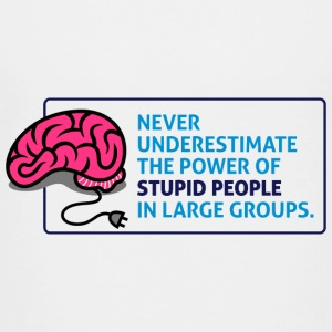 Never underestimate the power of stupid people Shirts - Teenage Premium T-Shirt