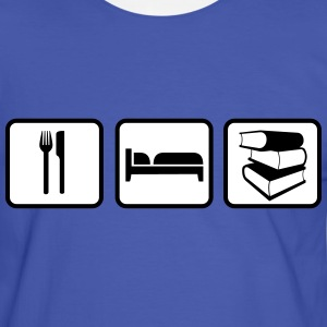 Eat Sleep Read Tee shirts - T-shirt contraste Homme
