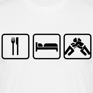 Eat Sleep Sumo, Eat Sleep Sumo Wrestling T-shirts - Herre-T-shirt