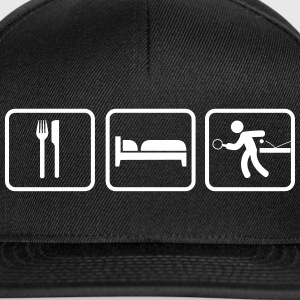 Eat Sleep Tischtennis, Eat Sleep Ping Pong Caps & Hats - Snapback Cap
