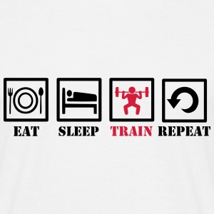 Eat Sleep Train Repeat T-shirts - T-shirt herr