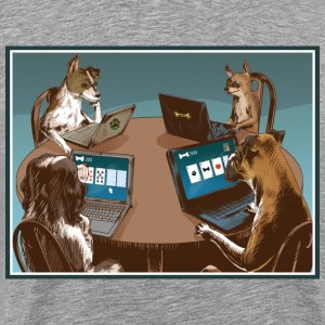 Dog Card Players T-Shirts - Männer Premium T-Shirt
