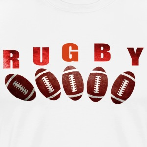 rugby 2 Tee shirts - T-shirt Premium Homme