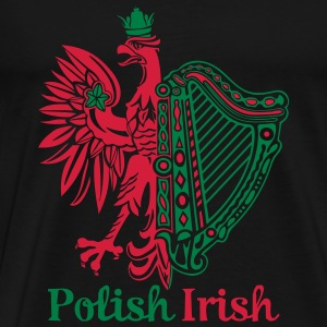 Polish Irish with text - Men's Premium T-Shirt