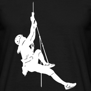 1000_rope_climbing_woman_ - Männer T-Shirt