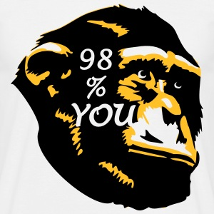 98 % You - Chimp T-Shirts - Männer T-Shirt