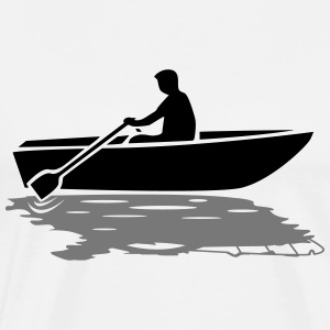 Båd vs. Powerboat T-shirts - Herre premium T-shirt