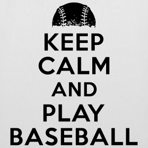 Keep calm and play baseball Tassen & rugzakken - Tas van stof