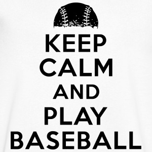 Keep calm and play baseball Tee shirts - T-shirt Homme col V