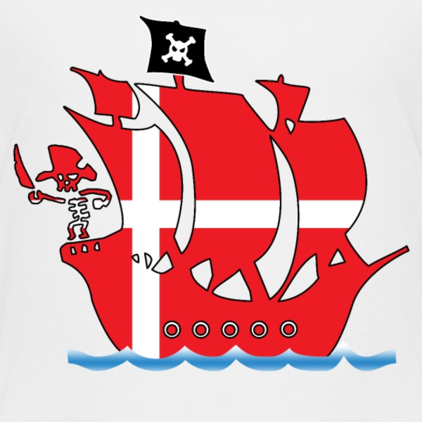 Pirateship danmark flag T-Shirts - Kinder Premium T-Shirt