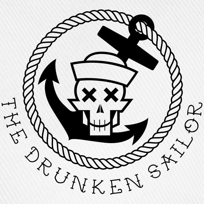 Drunken Sailor Captains Cap white