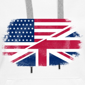 USA - Union Jack Flag Hoodies & Sweatshirts - Women's Premium Hoodie