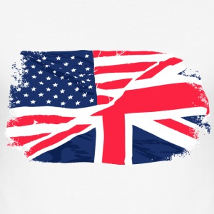 USA - Union Jack Flag T-skjorter - Slim Fit T-skjorte for menn