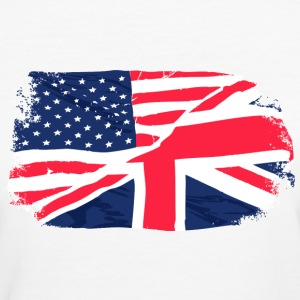 USA - Union Jack Flag T-Shirts - Women's Organic T-shirt
