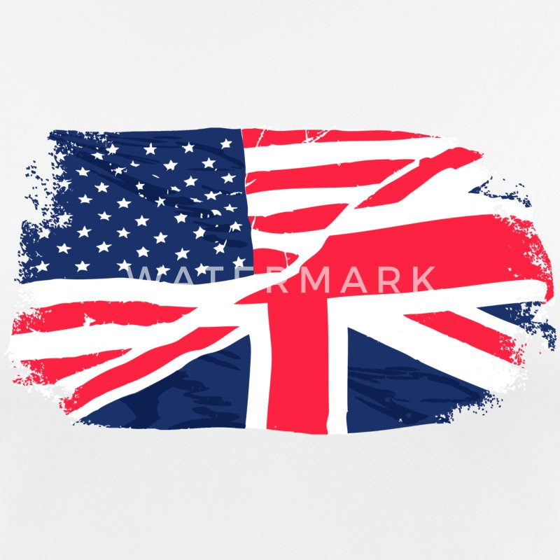 USA - Union Jack Flag Camisetas - Camiseta mujer transpirable